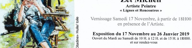 invitation vernissage galerie art au zenith